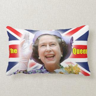 HM Queen Elizabeth II - Majestic Throw Pillow