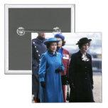 HM Queen Elizabeth II-Margaret Thatcher 2 Inch Square Button