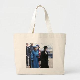 HM Queen Elizabeth II-Margaret Thatcher Jumbo Tote Bag