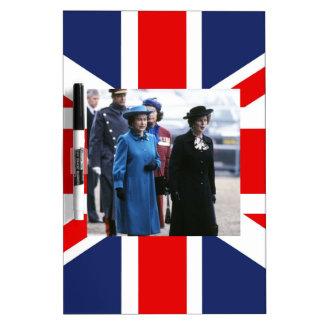 HM Queen Elizabeth II-Margaret Thatcher Dry Erase Whiteboard