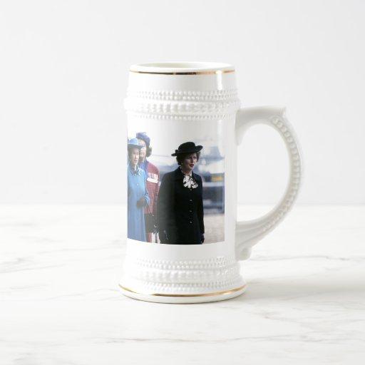 HM Queen Elizabeth II-Margaret Thatcher Coffee Mugs