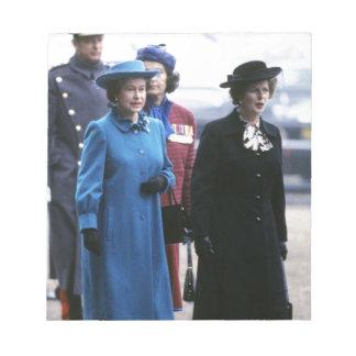 HM Queen Elizabeth II-Margaret Thatcher Notepads