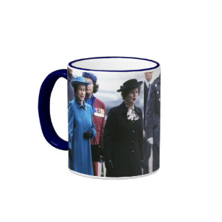 HM Queen Elizabeth II-Margaret Thatcher Ringer Mug