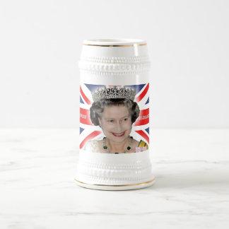 HM Queen Elizabeth II - Pro photo Beer Stein