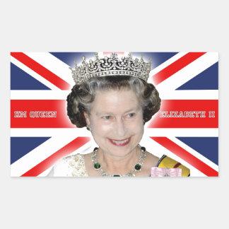 HM Queen Elizabeth II - Pro photo Rectangular Sticker