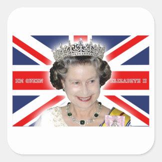 HM Queen Elizabeth II - Pro photo Square Sticker