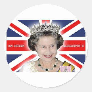 HM Queen Elizabeth II - Pro photo Sticker