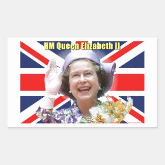HM Queen Elizabeth II Rectangle Stickers