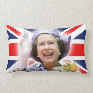 HM Queen Elizabeth II - Royalty Throw Pillows