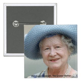 HM Queen Elizabeth, The Queen Mother 1988 Button