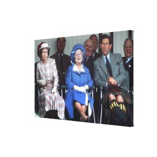 HM Queen Elizabeth, The Queen Mother 1988 Canvas Print
