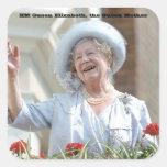 HM Queen Elizabeth, the Queen Mother 1990 Square Sticker