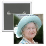 HM Queen Elizabeth, The Queen Mother Berlin 1987 2 Inch Square Button