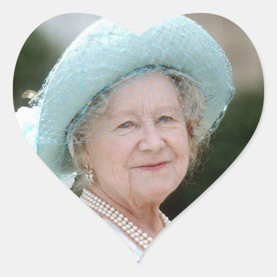 HM Queen Elizabeth, The Queen Mother Berlin 1987 Heart Sticker