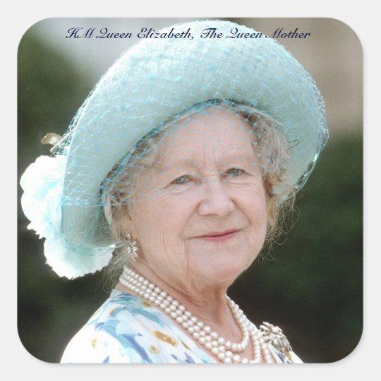 HM Queen Elizabeth, The Queen Mother Berlin 1987 Square Sticker