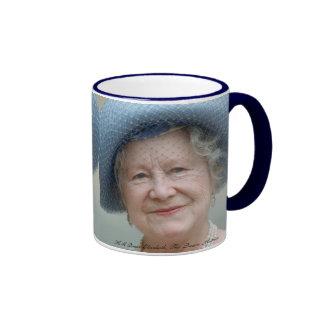 HM Queen Elizabeth, The Queen Mother Ringer Coffee Mug