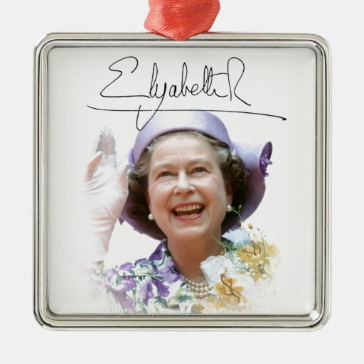 HM reina Elizabeth II Adornos