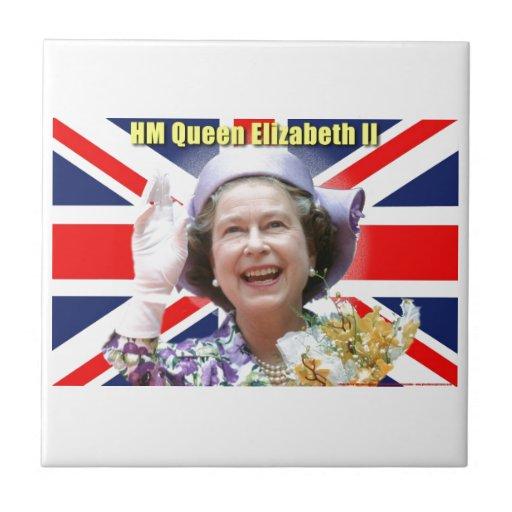 HM reina Elizabeth II Azulejos Ceramicos