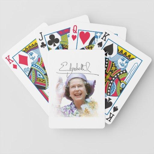 HM reina Elizabeth II Barajas De Cartas