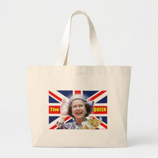 HM reina Elizabeth II Bolsa Tela Grande