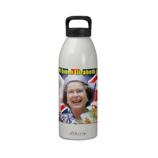 HM reina Elizabeth II Botella De Agua