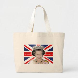HM reina Elizabeth II - favorable foto Bolsas De Mano