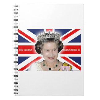 HM reina Elizabeth II - favorable foto Libros De Apuntes