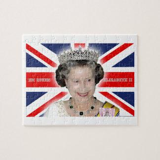 HM reina Elizabeth II - favorable foto Puzzles