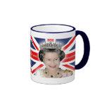 HM reina Elizabeth II - favorable foto Tazas De Café