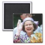 HM reina Elizabeth Ii-Hong Kong-1987 Imán Para Frigorífico