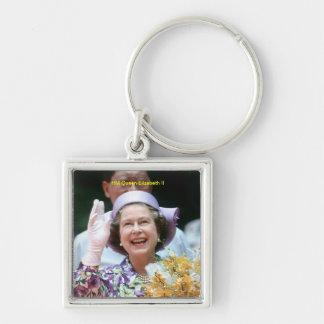 HM reina Elizabeth Ii-Hong Kong-1987 Llaveros