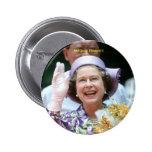 HM reina Elizabeth Ii-Hong Kong-1987 Pin Redondo De 2 Pulgadas
