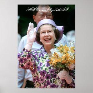 HM reina Elizabeth II Hong Kong 1989 Póster