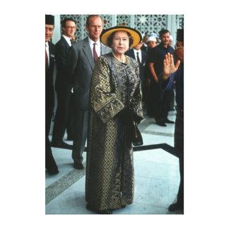 HM reina Elizabeth II Malasia 1989 Lona Estirada Galerias