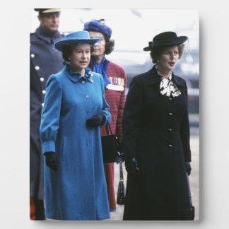 HM reina Elizabeth Ii-Margaret Thatcher Placa