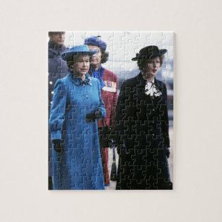 HM reina Elizabeth Ii-Margaret Thatcher Rompecabeza Con Fotos