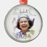 HM reina Elizabeth II Ornamentos De Reyes