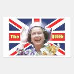 HM reina Elizabeth II Pegatina