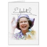 HM reina Elizabeth II Tarjeton