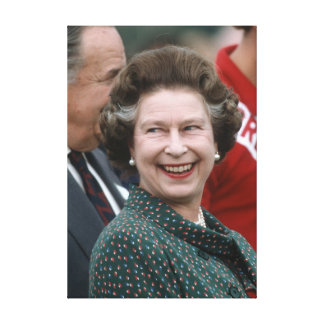 HM reina Elizabeth II Windsor 1986 Impresión En Lienzo Estirada
