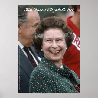 HM reina Elizabeth II Windsor 1986 Poster