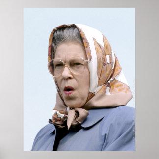HM reina Elizabeth II Windsor 1990 Posters
