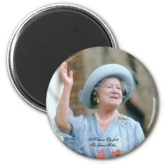 HM reina Elizabeth, la reina madre 1985 Imán