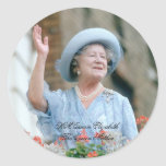 HM reina Elizabeth, la reina madre 1985 Pegatina Redonda