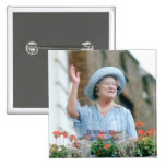 HM reina Elizabeth, la reina madre 1985 Pin Cuadrado