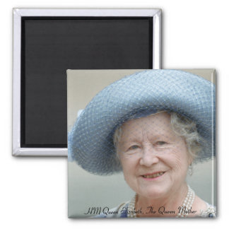 HM reina Elizabeth, la reina madre 1988 Imán Cuadrado