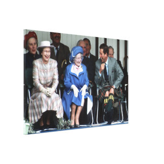 HM reina Elizabeth, la reina madre 1988 Lona Envuelta Para Galerias