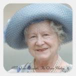 HM reina Elizabeth, la reina madre 1988 Pegatina Cuadrada