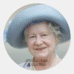 HM reina Elizabeth, la reina madre 1988 Pegatina Redonda