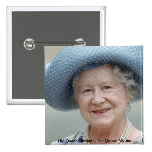 HM reina Elizabeth, la reina madre 1988 Pin
